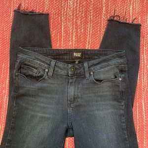Paige Verdugo Ankle Jeans in Black size 28